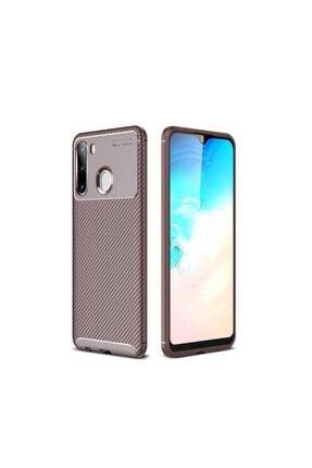 Samsung A21 Negro Silikon Kılıf Focus Fiber Karbon Zore Kamera Korumalı 10.509.11165.00