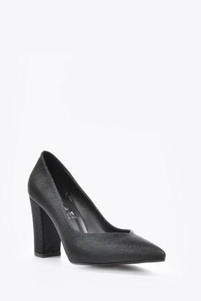 Kadın  Siyah-Baskı Klasik Topuklu Ayakkabı VZN20-016Y 153394_Siyah-Baskı