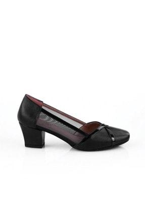Siyah Kumaş Siyah Rugan Kadın Topuklu Ayakkabı 726-8686-578