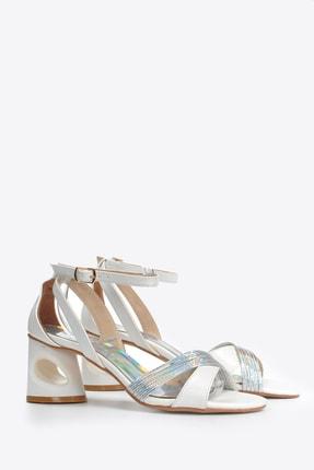 Kadın  Beyaz Klasik Topuklu Ayakkabı Vzn20-022y 153508_Beyaz