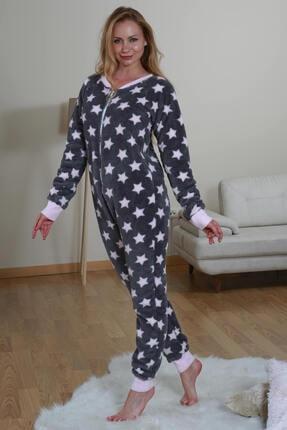 Kadın Gri Yıldızlı Pijama Tulum 544452MBY1505GRI