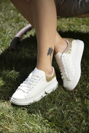 Beyaz-altın Kadın Sneaker 5007-20-110001
