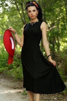 Kadın Siyah Asimetrik Elbise 2111.994.