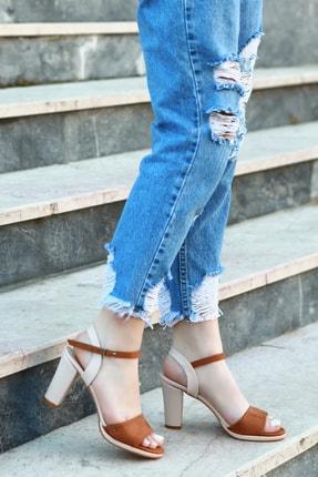 Taba Kadın Topuklu Ayakkabı KLASTK2