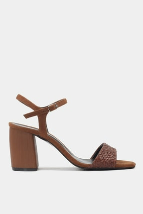 Kahve Kadın Topuklu Sandalet 01SAH175930A480
