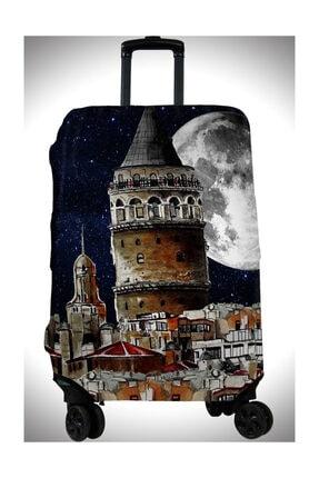 Valiz Kılıfı Bavul Kılıfı Renkli Desenli Valiz Koruyucu vlkc-21