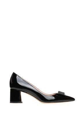 Kadın Siyah Rugan Kapalı Topuklu Ayakkabı 1125109_6987