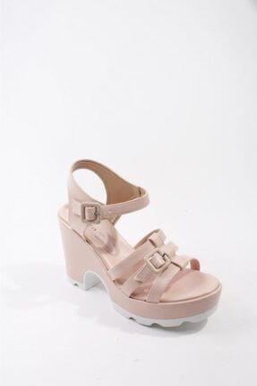 Kadın Pembe Dolgu Topuklu Ayakkabı Kd55722 KD55722
