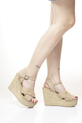 Dolgu Topuk Hasır Ayakkabı DLSY2001091