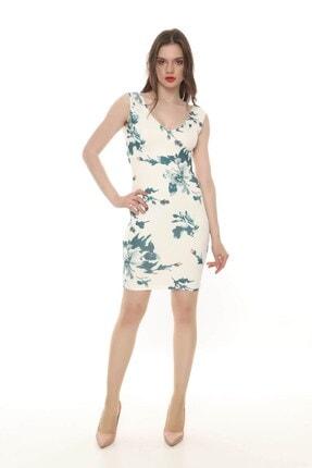 Kadın Ön Arka V Yaka Elbise R12K3EL2100B