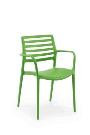 Laser Kollu Mutfak Sandalyesi Fıstık Yeşili LOUİSEK