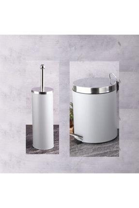 Gri Banyo Çöp Kovası Ve Tuvalet Fırçası pxpgribanyopxp