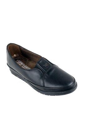 Kadın Siyah Deri Ortopedi Ayakkabı 7925 VYG007925Z