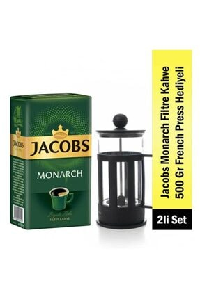 Monarch Aroma Filtre Kahve 500 G + French Press jacfrench
