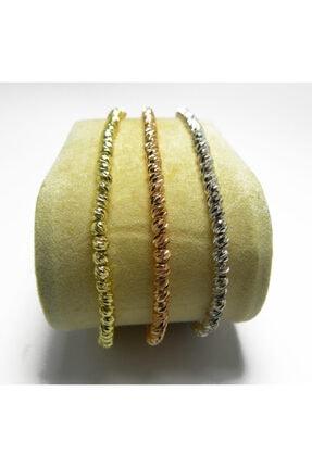 Altın - Gümüş Kaplama Rose Üçlü Dorika Bileklik Istediğin Renk Veya 3 Ü Bir Arada Dorika 3 Renk DORİKA TEKİL