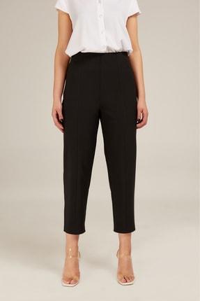 Kadın Siyah Yüksek Bel Pantolon ED20PNT0002SIYAH