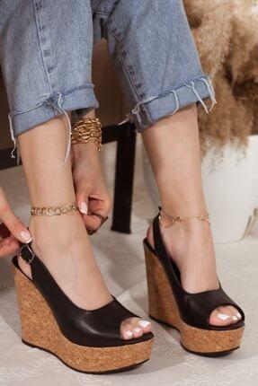 Kadın Dolgu Topuklu Sandalet A202YDSN0004