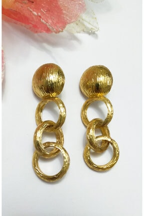 Kadın Gold Renk Halkalı Küpe TY1214