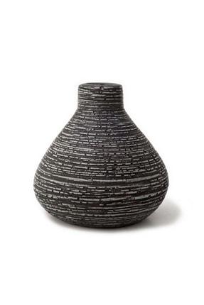 Siyah Eskitme Mini Beton Vazo, Dekoratif Vazo, El Yapımı Beton Vazo MGZ530302