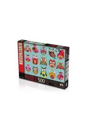 Baykuş Puzzle 500 Parça Ks Baykuş Puzzle 500 Parça