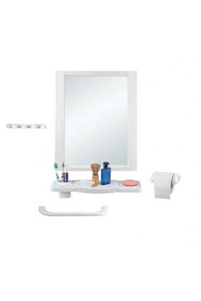 Tuğbasan TB.1360 Star Kare Aynalı 5li Banyo Seti 105 01006