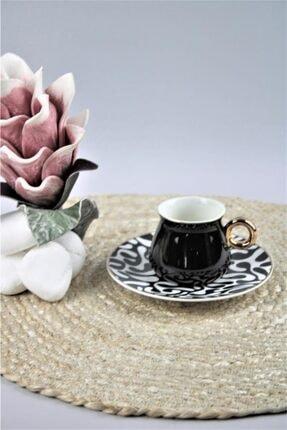 Siyah Gold Leopar Desenli Fincan Takımı Victoria-950 EVM8697000109523