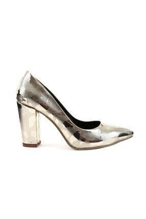 1301 Kadın Sivri Burun Parmak Dekolteli Topuklu Ayakkabı 20y 1301-1609