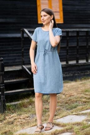 Mavi Kot Elbise EL33