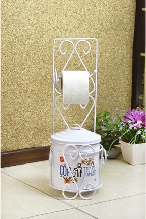 Banyo Seti ( Tuvalet Kağıtlığı Ve Çöp Kovası) Yıldıray Tuvalet Kağıtı ve Çöp Kovası