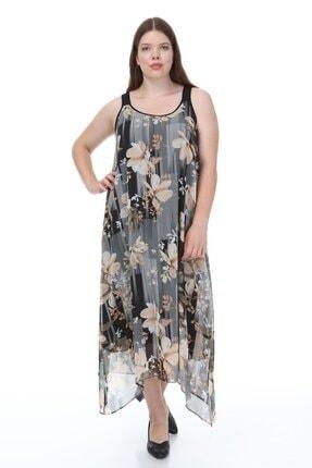 Kalın Askılı Asimetrik Elbise P81439