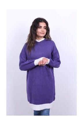 Kadın Cepli Kapşonlu Tunik 19025 HPK.01397