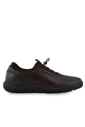 Erkek Kahverengi Hakiki Deri Günlük Ayakkabı OGS502402