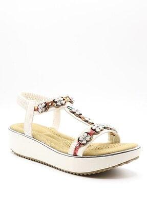 237-11 Beyaz Kadın Sandalet 001 237-11-82