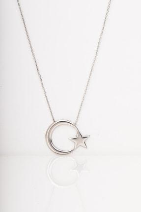 925 Ayar Gümüş Silver Bayrak Kadın Kolye KOZA-0188