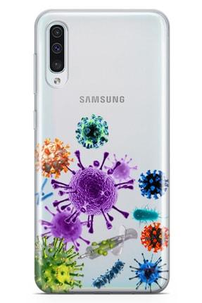 Samsung Galaxy A70 Kılıf Enjektör Ve Virusler Arka Kapak Koruma Desenli Full Koruyucu mfoni_527505