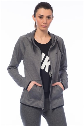 Nike Kadın Sweatshirt - Nk Thrma All Time Fz Hoody - 683656