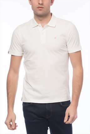 Jack & Jones Beyaz Polo Yaka T-Shirt - Perfect Originals Polo SS -