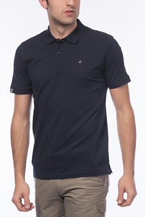 Jack & Jones Lacivert Polo Yaka T-Shirt - Perfect Originals Polo SS -