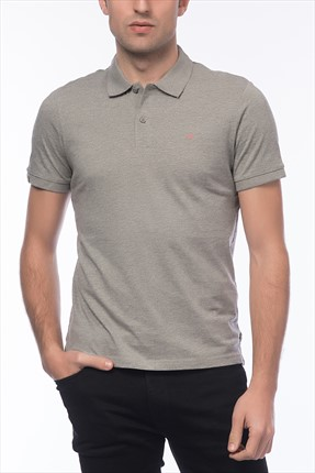 Jack & Jones Açık Gri Polo Yaka T-Shirt - Perfect Originals Polo SS -