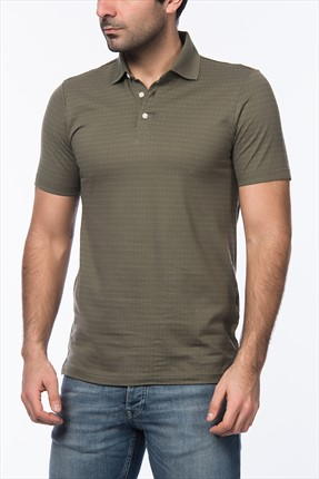 Jack & Jones Haki Polo Yaka T-Shirt - George Premium Polo SS -