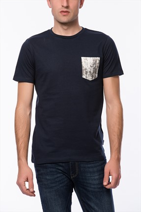 Jack & Jones Lacivert T-Shirt - Dark Originals Tee SS Crew Neck -