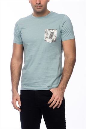 Jack & Jones Açık Mavi T-Shirt - Dark Originals Tee SS Crew Neck -
