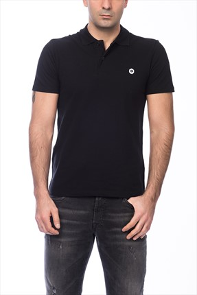 Jack & Jones Siyah Polo Yaka T-Shirt - Salvi Core Polo SS -