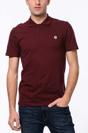 Jack & Jones Bordo Polo Yaka T-Shirt - Salvi Core Polo SS -