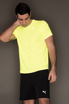 Puma Erkek Performans T-Shirt - Core-Run S S Tee Safety Yellow