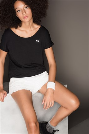 Puma Kadın Performans T-Shirt - Boyfriend Tee Black