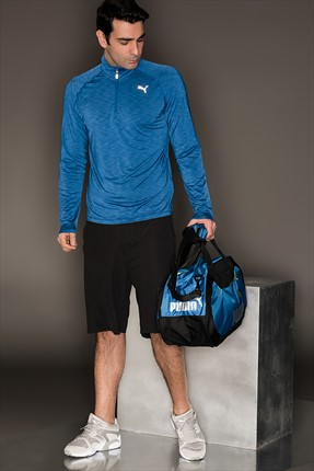 Puma Erkek Performans Sweatshirt - Core-Run Ls Hz Tee True Blue