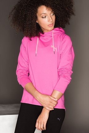 Puma Kadın Spor Sweatshirt - Actıve Ess Hooded Cover Up W Ultra Magen