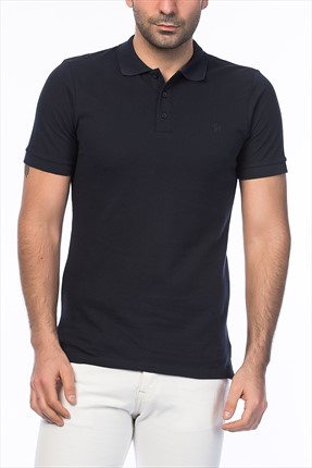 Jack & Jones Lacivert Polo Yaka T-Shirt - Org Originals Polo SS -