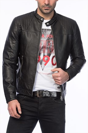 Jack & Jones Ceket - Dalian Core Biker Jacket -